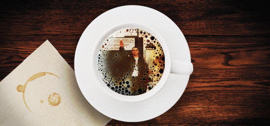 Christian in a cup of coffee